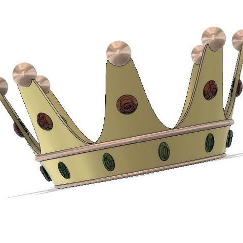 Download free 3D printing designs Simple crown, poblocki1982