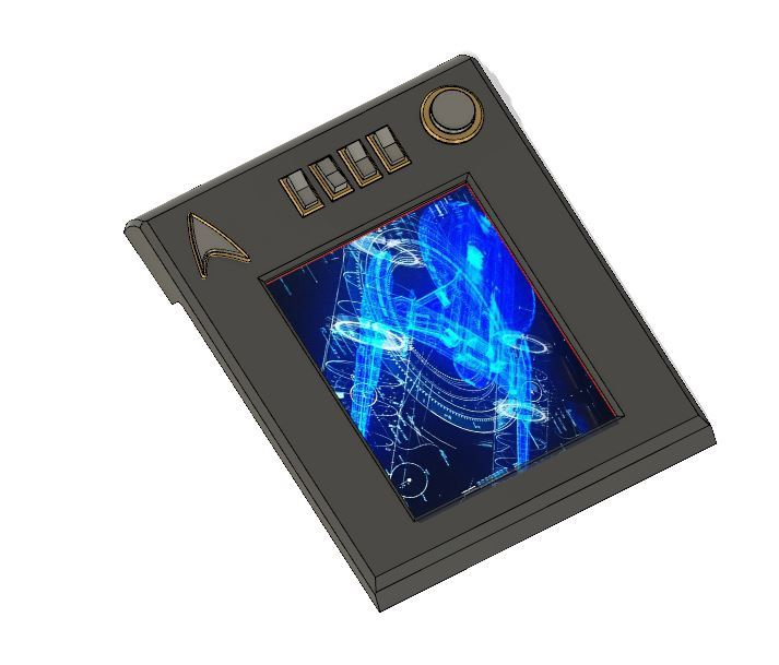 fd4c8e59b8a7add298869bd9fef2417c_display_large.JPG Download free STL file Star Trek PADD (Discovery Pike Era) • 3D printable model, poblocki1982