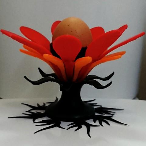 Objet 3D gratuit Porte-œuf en forme de fleur, poblocki1982