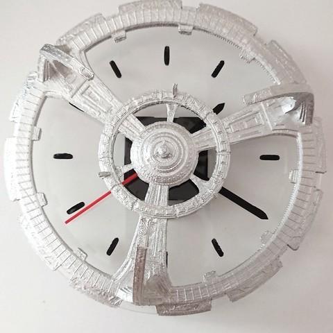 Download free 3D printer model Deep Space 9 Clock (Laser cutter), poblocki1982