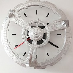 Free 3D print files Deep Space 9 Clock (Laser cutter), poblocki1982