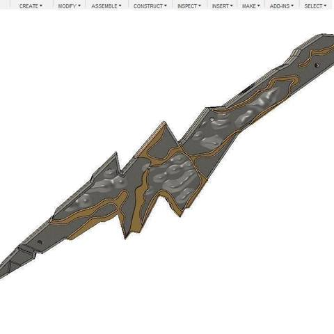 fabde0231709708ca2999c7d43dd94ab_display_large.jpg Download free STL file Cicada dagger (The Flash) - Dual Nozzle • 3D printer object, poblocki1982