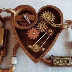 Download free 3D printer files Steampunk heart, poblocki1982