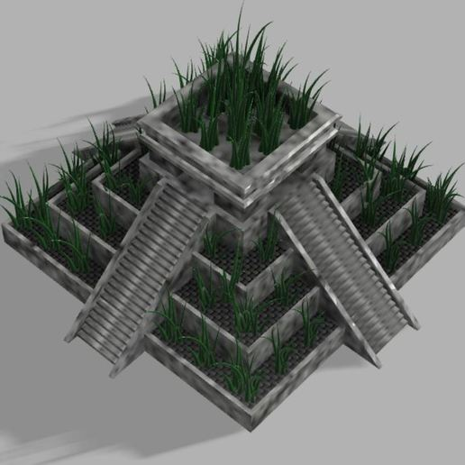 Capture3.JPG Download free STL file Aztec temple plant pot • 3D printable design, poblocki1982