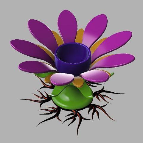 Télécharger objet 3D gratuit Porte-œuf en forme de fleur, poblocki1982