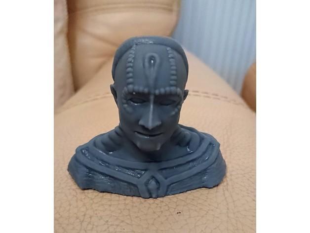 card.JPG Download free STL file Cardassian bust • 3D print object, poblocki1982