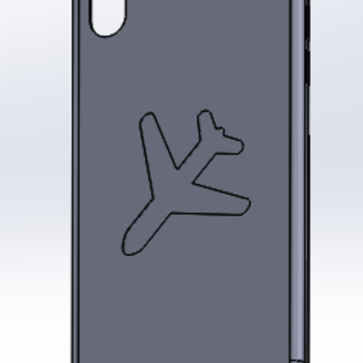 arrière.PNG Download free STL file hull iphone X plane • 3D printing template, imprimezen3d