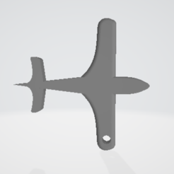 Download free STL files aircraft key ring, imprimezen3d