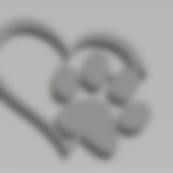Télécharger fichier STL gratuit porte clés patte de chien • Design imprimable en 3D, imprimezen3d