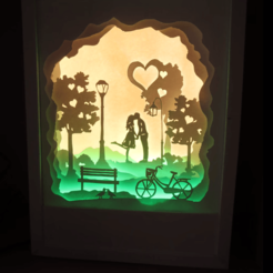 Download free 3D printing designs 3d picture night light, gaevskiiy