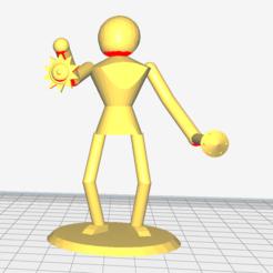 Cleric.PNG Télécharger fichier STL gratuit Figurine de bureau 1po • Design imprimable en 3D, Erisec