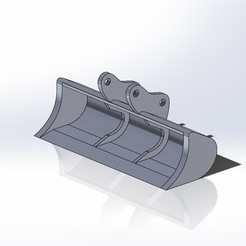 Benna larga 40mm pc210.JPG Download STL file Komatsu pc210 wide bucket • 3D printing object, samuelturri