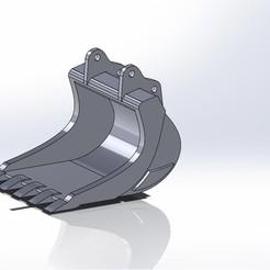 Benna altoadige l926.JPG Télécharger fichier STL Seau altoadige Liebherr 926 • Design imprimable en 3D, samuelturri