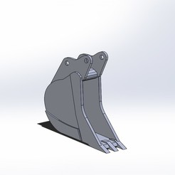 Benna stretta 3 denti pc210.JPG Télécharger fichier STL Komatsu pc210 seau mince • Design pour impression 3D, samuelturri