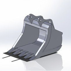Benna scavo zx250.JPG Télécharger fichier STL Hitachi zx250 seau normal • Plan imprimable en 3D, samuelturri