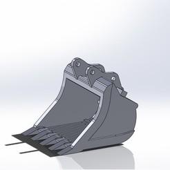 Benna vagliatrice pc210.JPG Download STL file Komatsu pc210 screening bucket • 3D print template, samuelturri