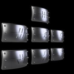 akatsuki4.png Télécharger fichier STL Bandeaux Akatsuki shinobi - Naruto • Design à imprimer en 3D, Yurican