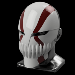 Ichini_final_marking v1.png Download STL file Ichigo Hollow / Visored Mask  • Object to 3D print, Yurican