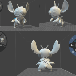 Download free 3D printer model Stich 626 4 arms, l3dmanstore