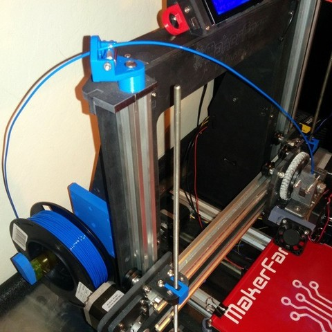 Download free 3D printing templates Makerfarm Prusa i3V spool holder, zapta