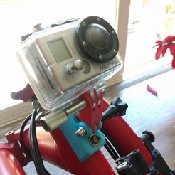 Download free STL files Brompton GoPro mount, zapta