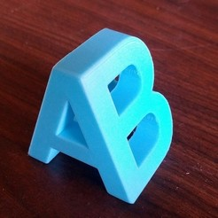 Download free 3D printing templates A/B, zapta