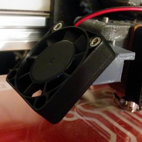 Free 3D print files Cooling fan bracket for Makerfarm Prusa I3V, zapta