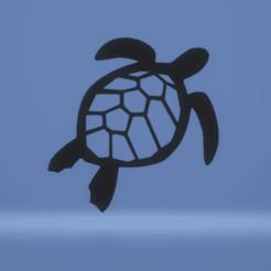 c1.png Descargar archivo STL tortuga de decoración de pared • Modelo imprimible en 3D, satis3d