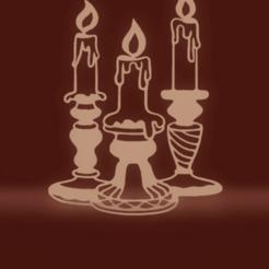 c1.png Download STL file wall decor candles • 3D printer template, satis3d