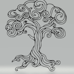 Download 3D printer templates wall decor tree, satis3d