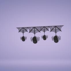 c1.png Télécharger fichier STL décoration murale bannière toile d'araignée • Plan imprimable en 3D, satis3d