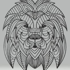 Download 3D printing designs wall decor lion, satis3d