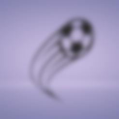 soccer ball motion.stl Télécharger fichier STL décoration murale ballon de foot motion • Design pour impression 3D, satis3d