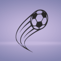 c1.png Download STL file wall decor soccer ball motion • 3D printing object, satis3d
