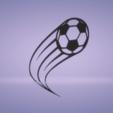 c1.png Télécharger fichier STL décoration murale ballon de foot motion • Design pour impression 3D, satis3d