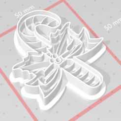 Download 3D printing models cookie cutter stamp christmas candy cane, satis3d