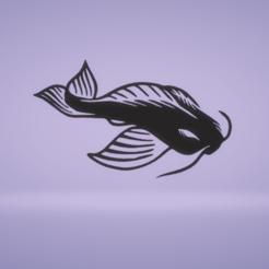 c1.png Télécharger fichier STL décoration murale poisson koï • Objet pour impression 3D, satis3d