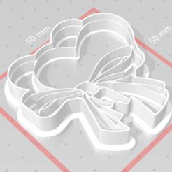 Imprimir en 3D cortador de galletas sello corazón encaje, satis3d