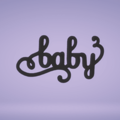 c1.png Download STL file wall decor baby letters • 3D printable object, satis3d
