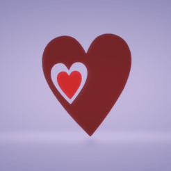 c1.png Download STL file wall decor two hearts • 3D printer design, satis3d
