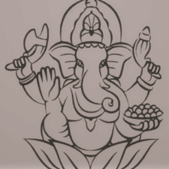 Download 3D printing designs wall decor ganesh, satis3d