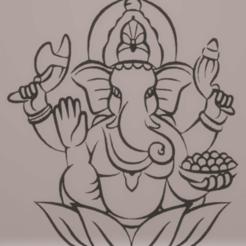Télécharger modèle 3D décoration murale ganesh, satis3d