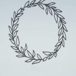 c1.png Download STL file wall decor botanical wreath set • Design to 3D print, satis3d