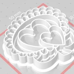 Descargar modelo 3D Corazones de estampilla de cortador de galletas, satis3d