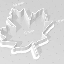 Download STL file cookie cutter leaf set, satis3d