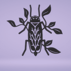 c1.png Download STL file wall decor stag beetle • Design to 3D print, satis3d