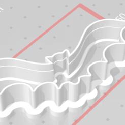 Download 3D printing templates cookie cutter stamp halloween bat, satis3d