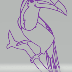 Télécharger fichier impression 3D décoration murale toucan, satis3d