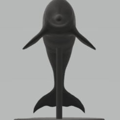 c1.png Download STL file statue dolphin • Model to 3D print, satis3d
