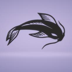 koi1.png Télécharger fichier STL décoration murale poisson koï • Objet pour impression 3D, satis3d